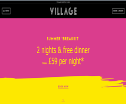 Village Hotels Promo Codes