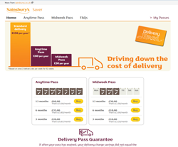 Sainsbury's Delivery Pass Discount Codes
