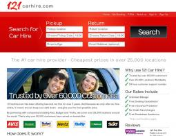 121 Car Hire Discount Codes